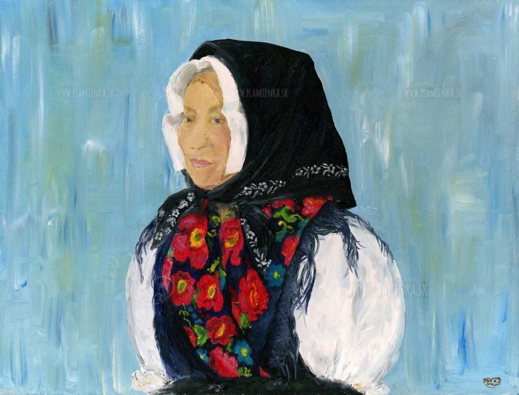 Valika Juríková v zázrivskom kroji